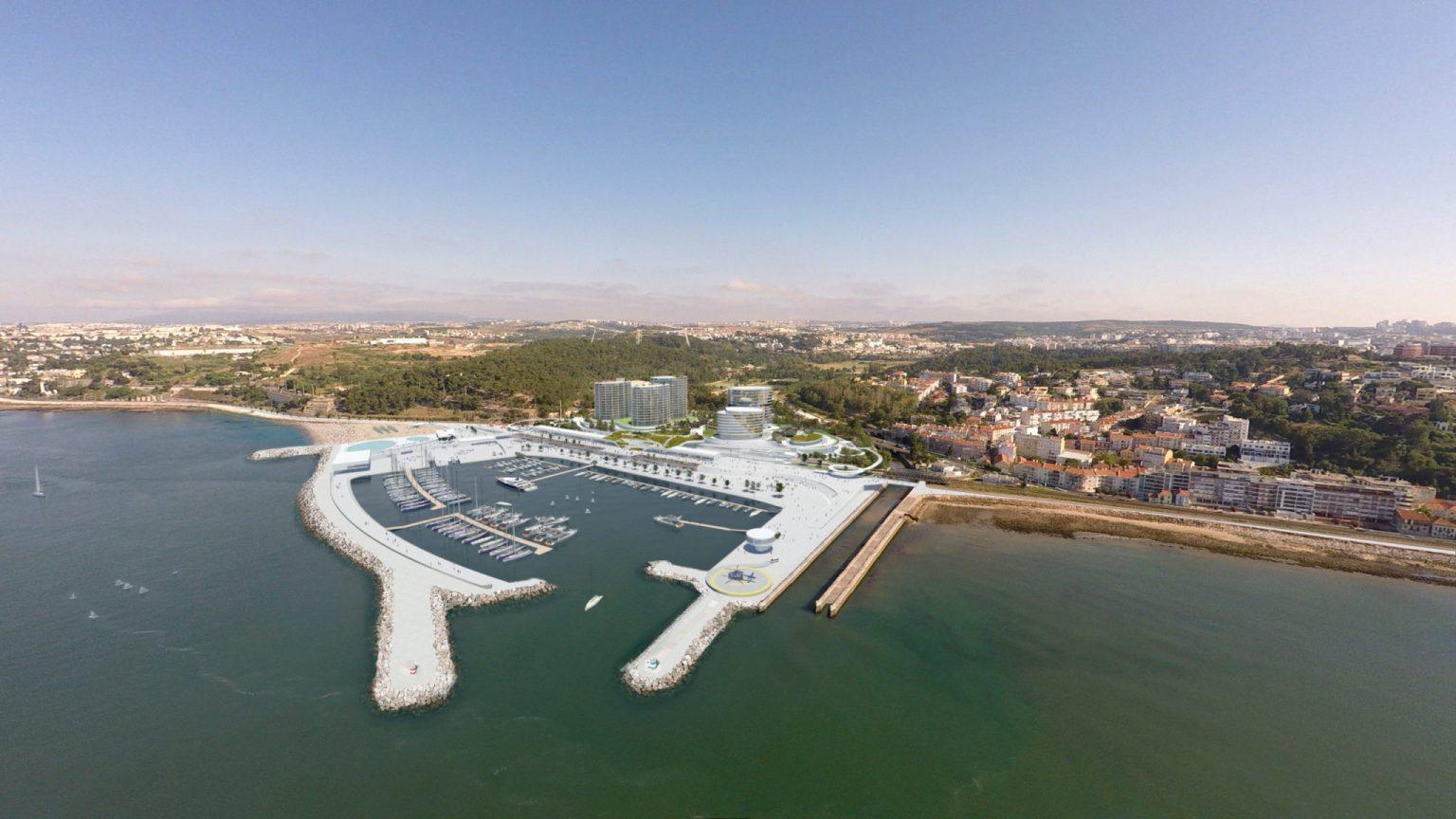 Projecto Porto Cruz - Foz do Jamor - imagem: Maquete: Silcoge Promoção Imobiliária